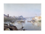 Fishermen at Ripa Grande Giclee Print by Ettore Roesler Franz