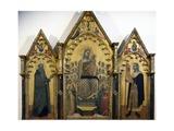 Virgin and Child with Saints, 1369, Triptych Giclée-Druck von Allegretto Nuzi