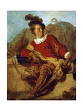 Abbot of Saint-Non, Dressed in Spanish Style Reproduction procédé giclée par Jean-Honoré Fragonard