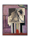 Still Life in Front of Balcony; Nature Morte Devant Le Balcon, 1929 Giclée-tryk af Louis Marcoussis