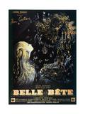 Poster for the Jean Cocteau Film 'La Belle Et La Bete', 1946 Giclée-vedos