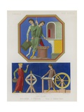 Bakers and Weavers from the Windows of Amiens Cathedral Giclée-vedos