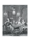 Elegant Dinner Giclee Print by Jean-Michel Moreau the Younger