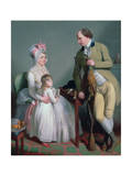 Mr and Mrs Custance of Norwich and their Daughter Frances, C.1786 Giclee Print by Sir William Beechey