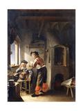 An Old Alchemist and His Assistant in their Workshop Lámina giclée por Frans Van Mieris
