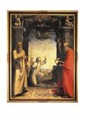 Saint Catherine Receiving Stigmata Giclée-tryk af Domenico Beccafumi