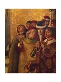 St Dominic De Guzman and Albigensians Giclée-tryk af Pedro Berruguete