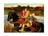 A Dream of the Past: Sir Isumbras at the Ford, 1857 Giclee Print by John Everett Millais