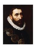 Portrait of a Bearded Man, Bust-Length, Wearing Gorgets Giclee Print by Adriaen Thomasz Key