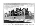 The South East View of the Middlesex Hospital, 1745 Giclee Print by Haynes King