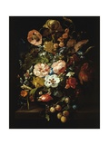 Still Life with Flowers and Fruit Giclee-trykk av Rachel Ruysch