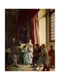 Michelangelo Reciting His Poems to Vittoria Colonna Giclée-Druck von Francesco Vinea