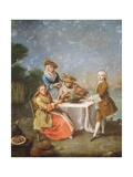 In Gardens of Estuary, 1760-1770 Giclee Print by Pietro Longhi