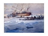 The Endurance Crushed in the Ice of the Weddell Sea, October 1915 Giclée-tryk af George Marston