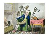 The Head Ache, Satirical Cartoon Lámina giclée por George Cruikshank