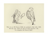 There Was an Old Person of Brill, Who Purchased a Shirt with a Frill Giclée-Druck von Edward Lear