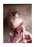 Portrait of Mlle. De Gillespie, La Dame De Biarritz, 1912 Giclée-tryk af Giovanni Boldini