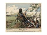 Death of Field Marshal Von Schwerin at the Battle of Prague Giclee Print by Richard Knoetel