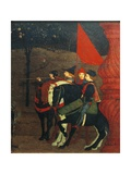 Predella of Miracle of Profaned Host Gicléetryck av Paolo Uccello
