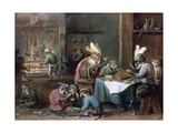 Smokers and Drinkers Giclée-Druck von David Teniers the Younger