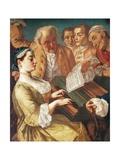 Musical Entertainment, 1745-1755 Giclée-tryk af Gaspare Traversi