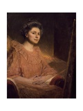 Portrait of Angele Delasalle Giclee Print by Jean Joseph Benjamin Constant
