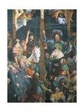 Detail from Lower Section of Crucifixion, Fresco Giclée-tryk af Gaudenzio Ferrari