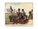 Frederick the Geat of Prussia on the March across Lausitz Giclee Print by Richard Knoetel