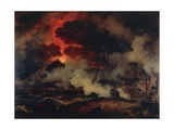Eruption of Vesuvius Giclée-Druck von Pierre Henri de Valenciennes