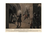 Frederick the Great of Prussia on the Evening after the Battle of Leuthen Giclee Print by Richard Knoetel