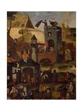 Netherlandish Proverbs, 1559 Giclée-vedos tekijänä Pieter Brueghel the Younger