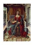 Triptych of St. Catherine, Middle Panel Giclée-tryk af Fernando Gallego