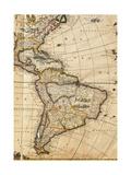 Map of America Reproduction procédé giclée par Frederick de Wit