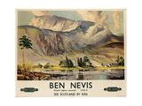 Ben Nevis, Poster Advertising British Railways, C.1955 Giclée-vedos