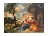 Nativity of Jesus, Circa 1512-1513 Giclée-tryk af Dosso Dossi