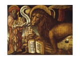 Lion of St Mark's, Symbol of Venice Giclée-tryk af Domenico Veneziano
