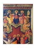 The Virgin Surrounded by Twelve Apostles or Pentecost Giclée-Druck von Paolo Veneziano