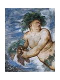 Allegory of Autumn, Detail of Frescoes Giclee Print by Girolamo Romanino