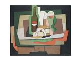 Still Life on a Table; Nature Morte Sur Une Table, 1925 Giclée-Druck von Georges Valmier