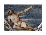 Male Nude, Detail of Frescoes Giclee Print by Girolamo Romanino