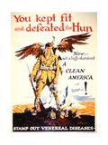Stamp Out Venereal Diseases', 1st World War Poster, C.1918 Gicléetryck