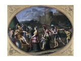 Alexander and Timoclea at Thebes, Ca 1615 Lámina giclée por Domenichino