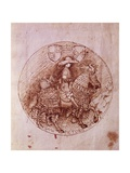 Design of Alfonso of Aragon's Medal Giclée-tryk af Antonio Pisanello
