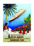 To Rio De Janeiro', Poster Advertising the Hamburg Southern Line, 1929 Impressão giclée