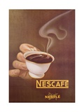 Advertisement for Nescafe by Nestle, Designed by Schupbach, C.1930 Stampa giclée