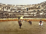 Procession of Matadors at the Amphitheatre in Nîmes, 1890-1900 Reproduction photographique