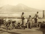 A Classical Scene, Tierra Del Fuego, South America. C.1899 Photographic Print by Wilhelm Von Gloeden