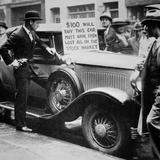 Man Selling His Car, Following the Wall Street Crash of 1929, 1929 Photographic Print