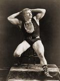 Eugen Sandow, in Classical Ancient Greco-Roman Pose, C.1897 Valokuvavedos