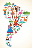 South America Love Plastikskilt af  Marish